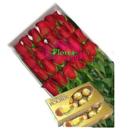 Caja 24 Rosas y ferreros