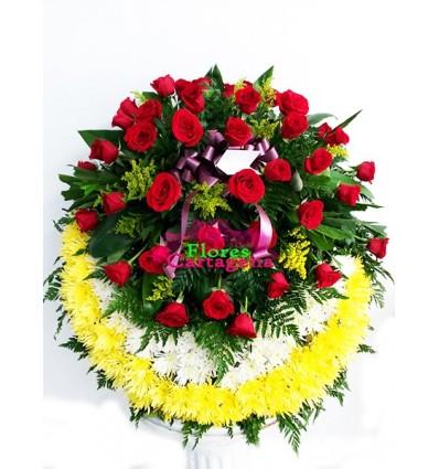 Corona en Rosas y Pompones