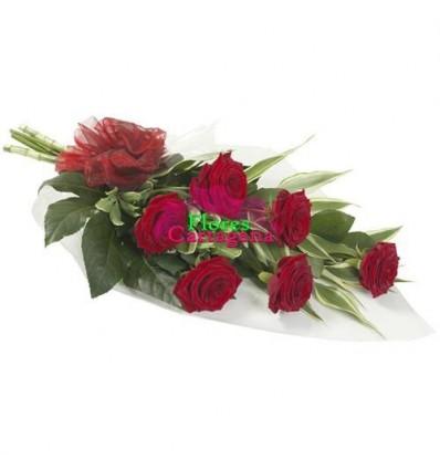 Ramillete de Rosas rojas Cascada