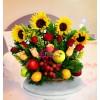 Frutero y girasoles