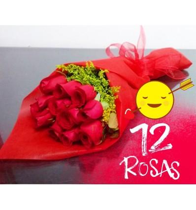 12 Rosas Bouquet